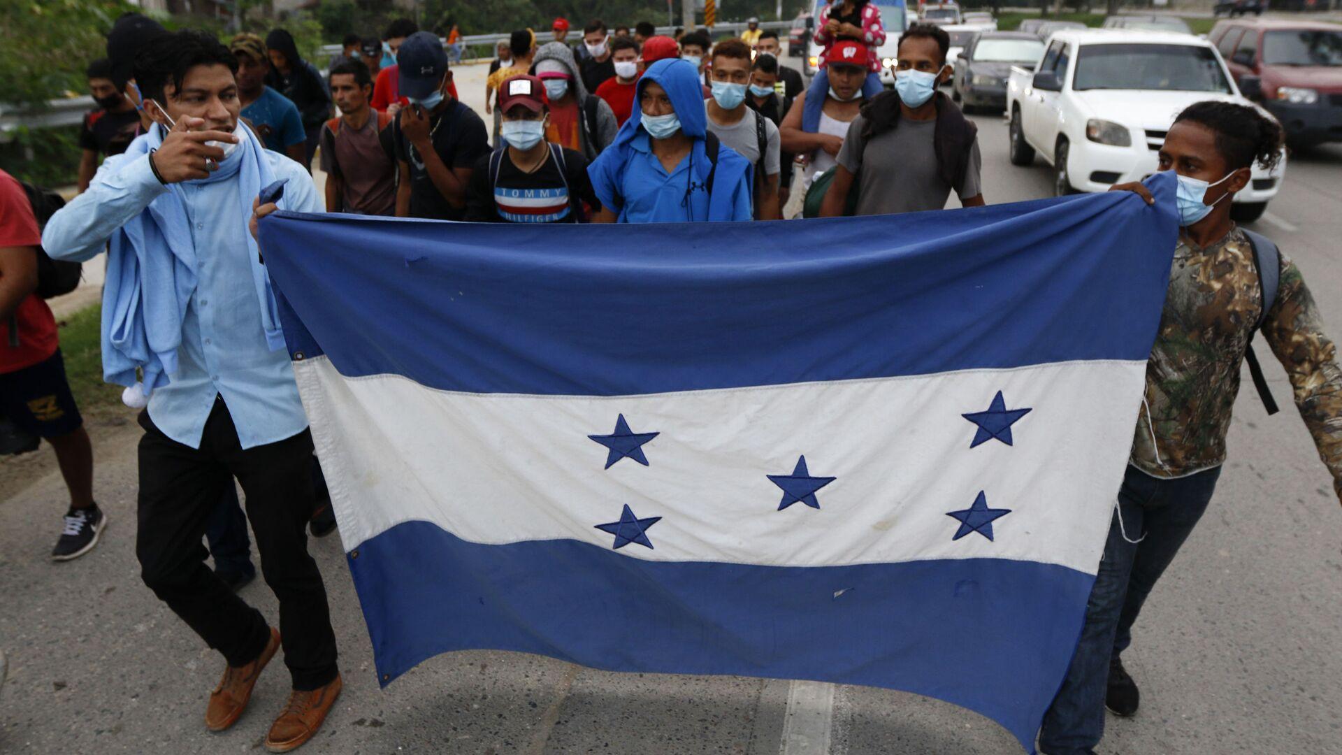 Caravana de migrantes hondureños  - Sputnik Mundo, 1920, 15.04.2021