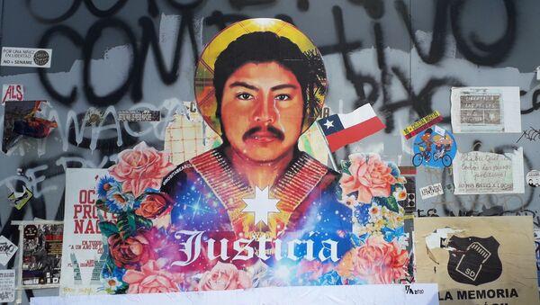 Mural por Camilo Catrillanca - Sputnik Mundo