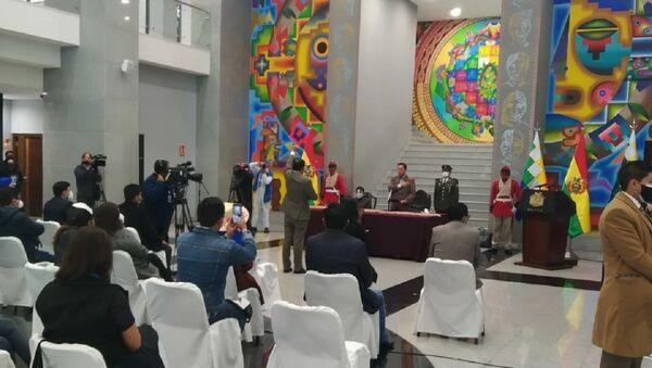 El presidente de Bolivia, Luis Arce, posesiona a Jeyson Auza como el nuevo Ministro de Salud y Deportes - Sputnik Mundo