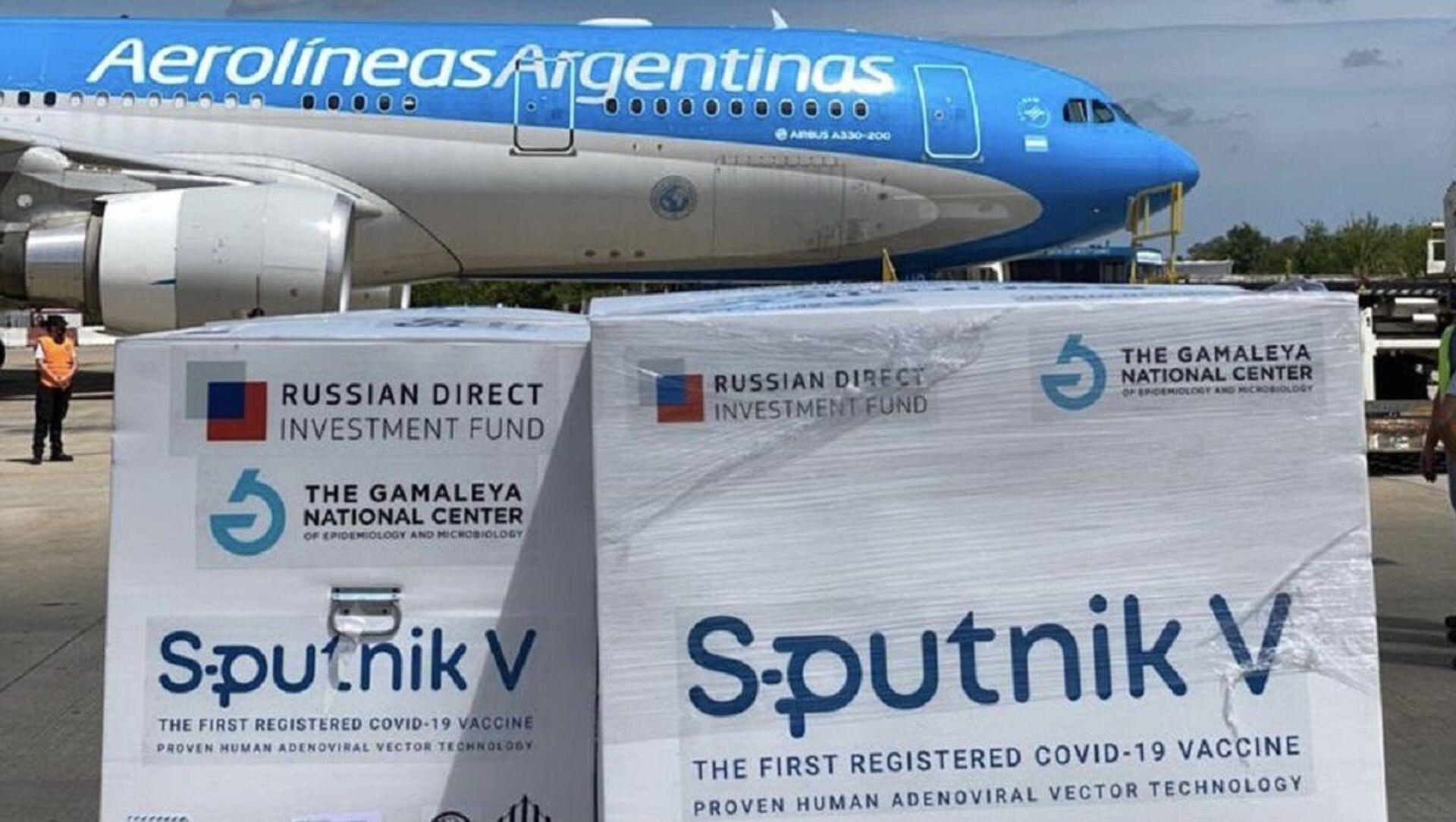 El avión con el segundo lote de vacuna rusa Sputnik V llega desde Moscú a Argentina  - Sputnik Mundo, 1920, 04.02.2021
