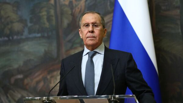 El ministro de Relaciones Exteriores de Rusia Sergéi Lavrov - Sputnik Mundo