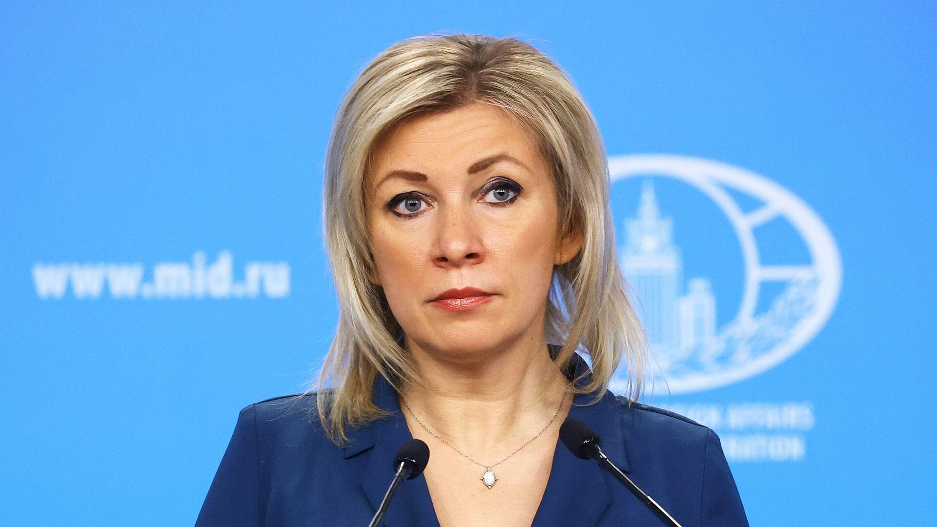 María Zajárova, portavoz del Ministerio de Exteriores de Rusia - Sputnik Mundo, 1920, 10.06.2021