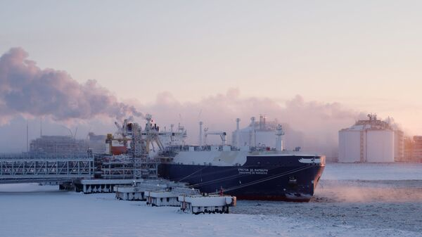 El buque cisterna Christophe de Margerie de la compañía gasística rusa Novatek - Sputnik Mundo