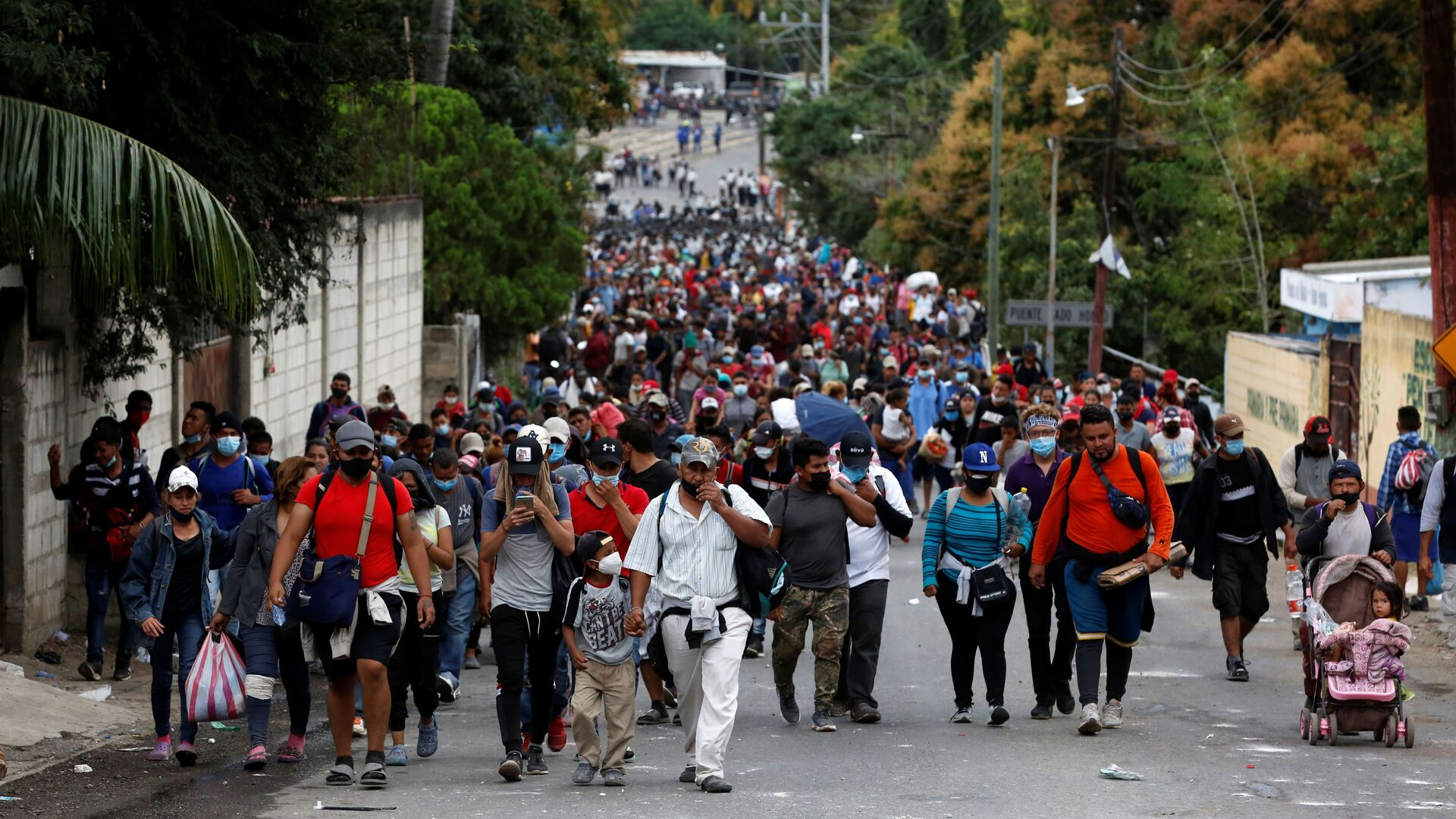 Caravana de migrantes hondureños  - Sputnik Mundo, 1920, 27.02.2021