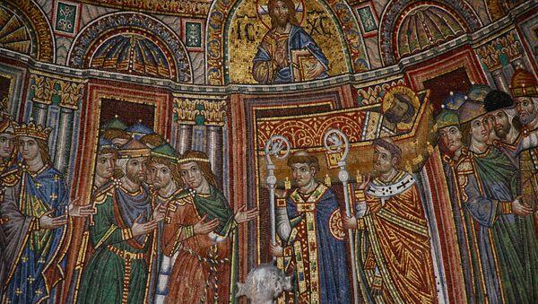 Mosaico bizantino (imagen referencial) - Sputnik Mundo
