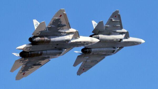 Cazas Su-57 rusos - Sputnik Mundo