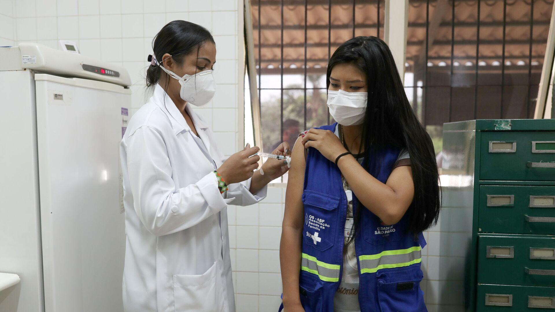 Vacunación contra el coronavirus en Brasil - Sputnik Mundo, 1920, 21.06.2021