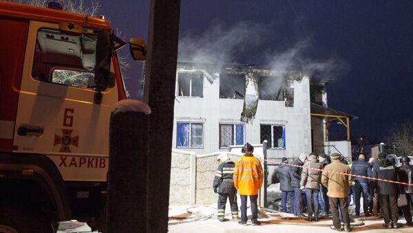 Un incendio en una residencia para mayores en la ciudad ucraniana de Járkov - Sputnik Mundo