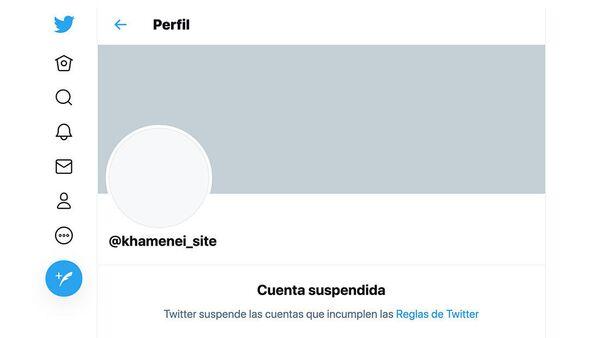 La red social estadounidense Twitter suspendió una de las cuentas del líder supremo de Irán, el ayatolá Alí Jameneí. - Sputnik Mundo