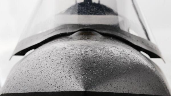 Llluvia cae sobre la nariz del caza F-35 - Sputnik Mundo