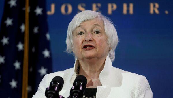 Janet Yellen, secretaria del Tesoro de EEUU - Sputnik Mundo