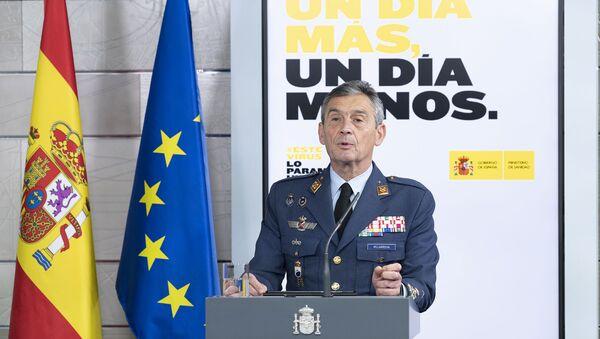 El jefe de Estado Mayor de la Defensa de España (JEMAD), el general Miguel Ángel Villarroya - Sputnik Mundo