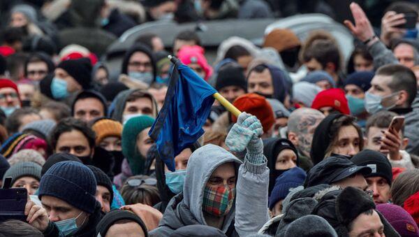 Las protestas no autorizadas en Rusia - Sputnik Mundo