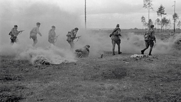 Soldados en la región de Smolensk (1941) - Sputnik Mundo