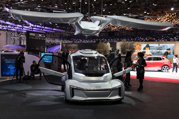 Concepto de vehículo eléctrico volador no tripulado de Audi AG, Airbus e ItalDesign Giugiaro.  - Sputnik Mundo