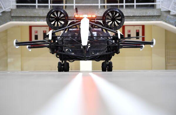 Prueba de un dron-taxi en las instalaciones del estadio Luzhnikí de Moscú. - Sputnik Mundo