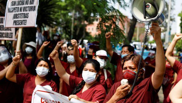Protesta de los médicos en Perú  - Sputnik Mundo