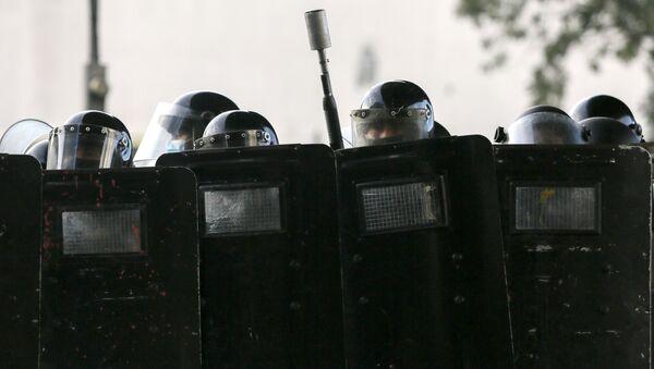 Policía antidisturbios de Panamá - Sputnik Mundo