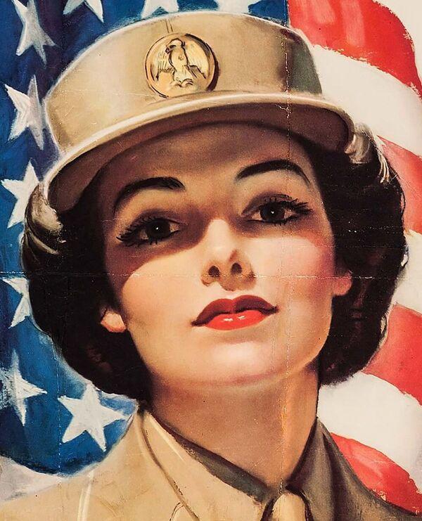 Hasta 1948, las mujeres de Estados Unidos solo podían desempeñar funciones militares en tiempos de guerra. El 12 de junio de 1948, el Congreso de Estados Unidos aprobó la ley de Integración de las Mujeres en las Fuerzas Armadas. Desde entonces, las mujeres en el Ejército estadounidense también pueden ser reclutadas en tiempos de paz. Desde 1992, la ley les permite ser pilotos de combate, y desde 1993, servir en buques de combate. En la actualidad, las mujeres representan el 14,5% del total de los militares estadounidenses en servicio activo (datos del 2018). En la foto: un cartel que anima a las mujeres estadounidenses a unirse a las filas del WAC, el Cuerpo Femenino del Ejército de los Estados Unidos, 1943. - Sputnik Mundo