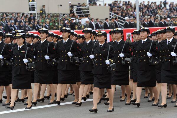 Las mujeres japonesas solo son reclutadas desde 1967. En la actualidad, unas 14.000 mujeres prestan servicio en las Fuerzas de Autodefensa de Japón, incluidas las Fuerzas Aéreas y la Marina, lo que representa alrededor del 6% del personal (datos de 2018).  - Sputnik Mundo