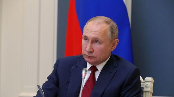 El presidente ruso, Vladímir Putin, en el Foro Económico Mundial de Davos - Sputnik Mundo