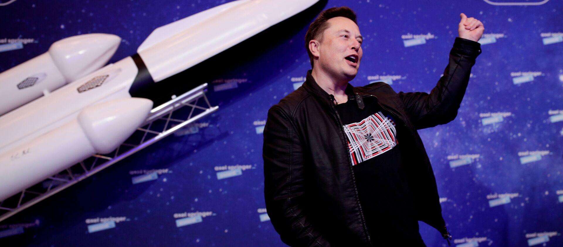 Elon Musk, director ejecutivo de SpaceX, en la alfombra roja de los premios Axel Springer - Sputnik Mundo, 1920, 08.02.2021