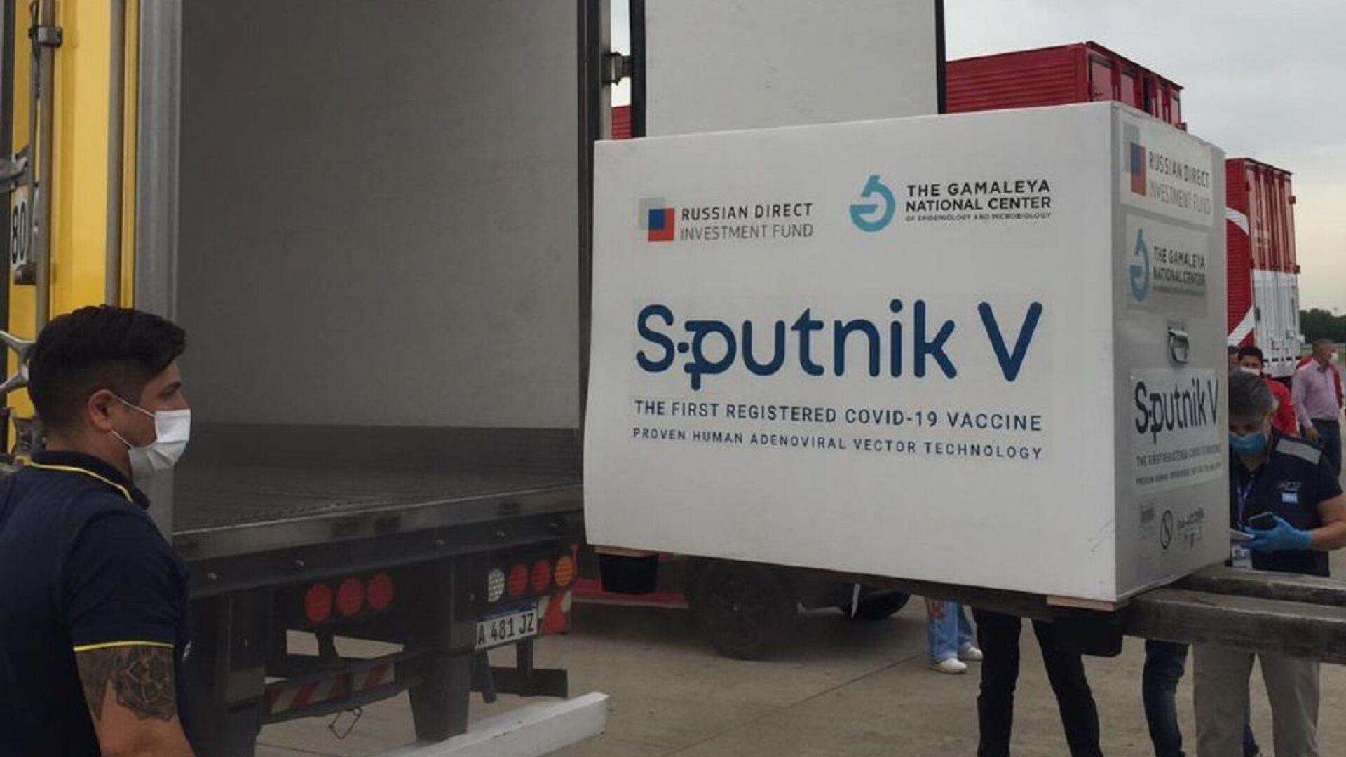 El avión con la vacuna rusa Sputnik V llega a Argentina - Sputnik Mundo, 1920, 04.03.2021
