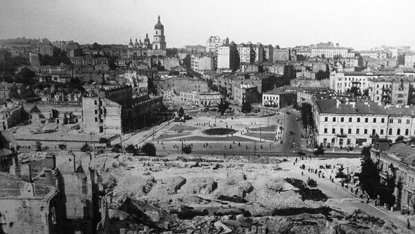 La vista de Kiev tras la liberación de la ocupación nazi - Sputnik Mundo