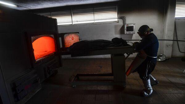 Un crematorio en México durante la pandemia COVID-19 - Sputnik Mundo