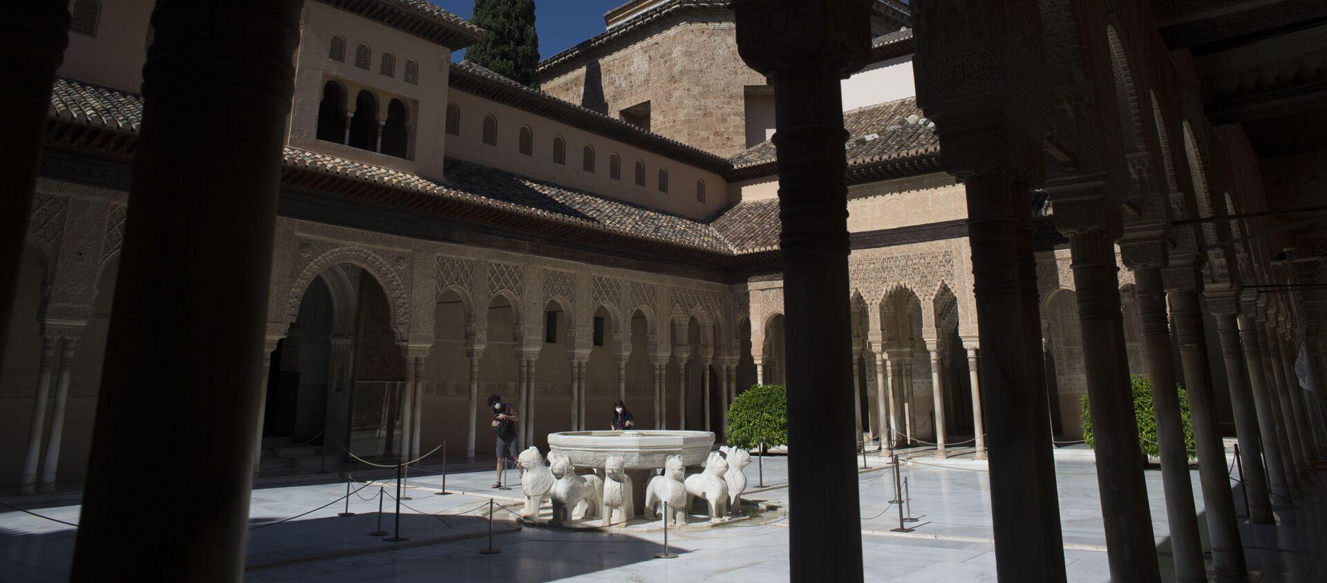 El Patio de los Leones de la Alhambra de Granada - Sputnik Mundo, 1920, 29.01.2021