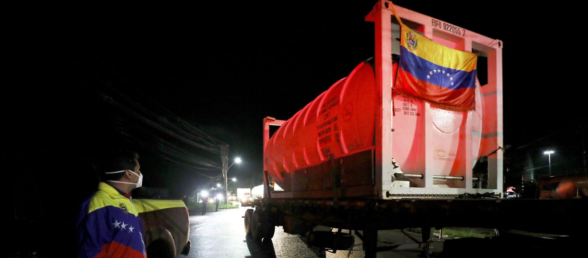 Camiones de oxígeno de Venezuela van a Manaos, Brasil - Sputnik Mundo, 1920, 29.01.2021