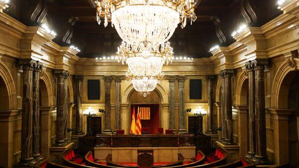 El Parlamento de Cataluña vacío - Sputnik Mundo