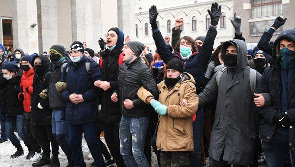 Manifestaciones no autorizadas por Navalni en Moscú - Sputnik Mundo
