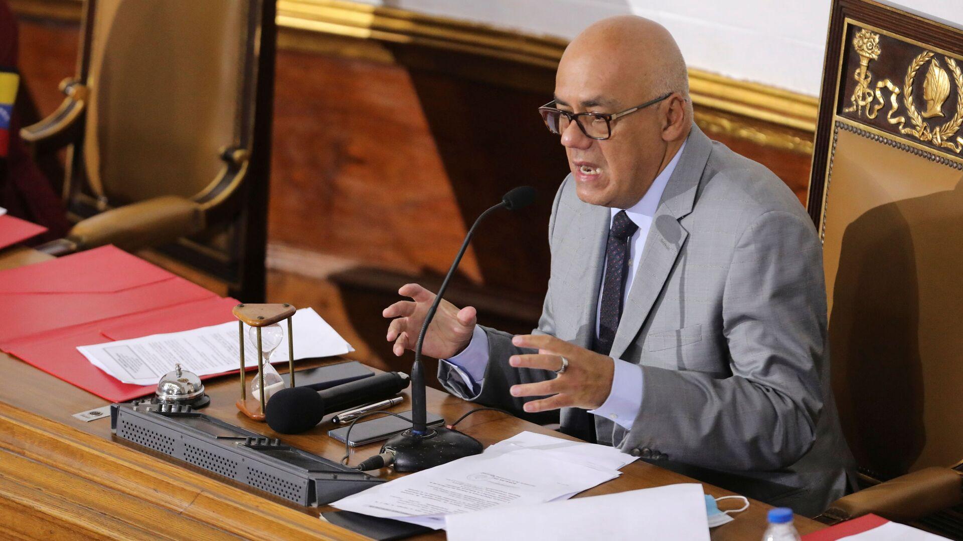 Jorge Rodríguez, presidente de la Asamblea Nacional de Venezuela - Sputnik Mundo, 1920, 15.03.2021