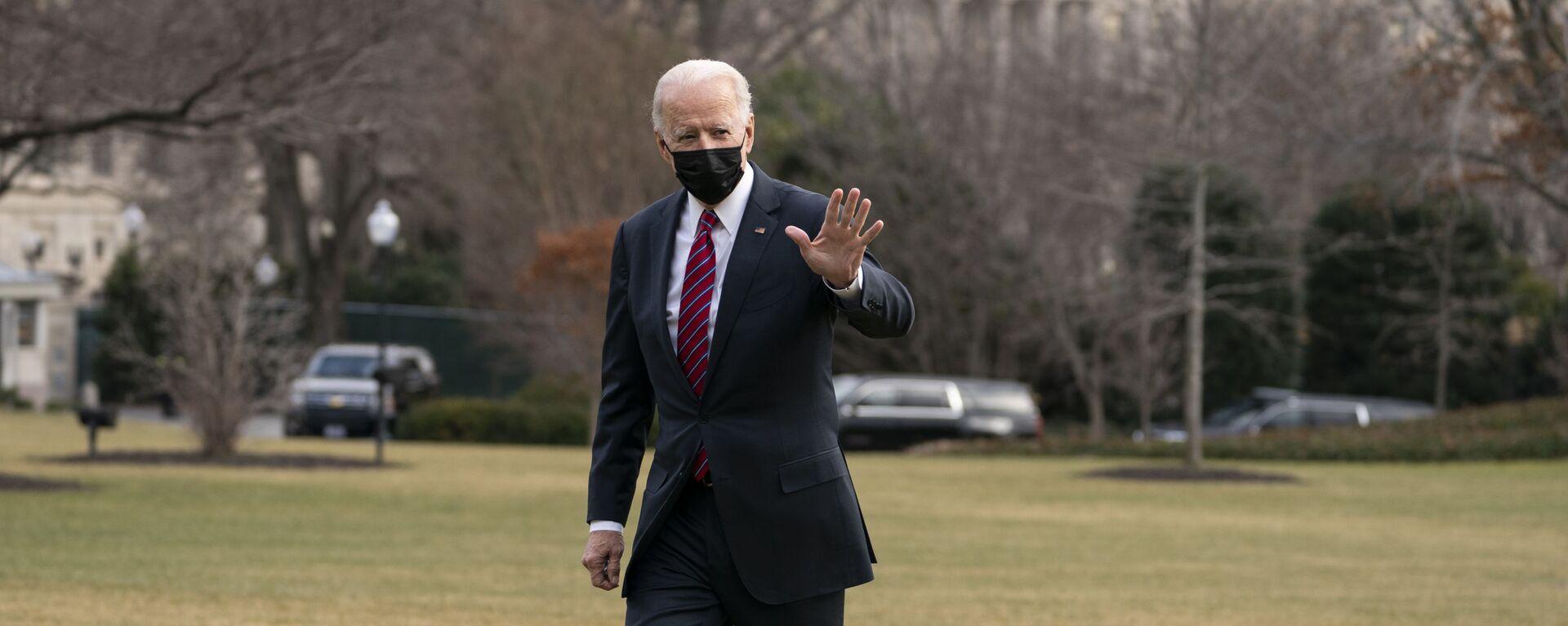 Joe Biden, presidente de EEUU, en el jardín de la Casa Blanca, en Washington, el 29 de enero del 2021 - Sputnik Mundo, 1920, 17.06.2021