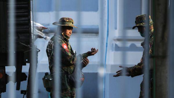 Militares de Birmania - Sputnik Mundo