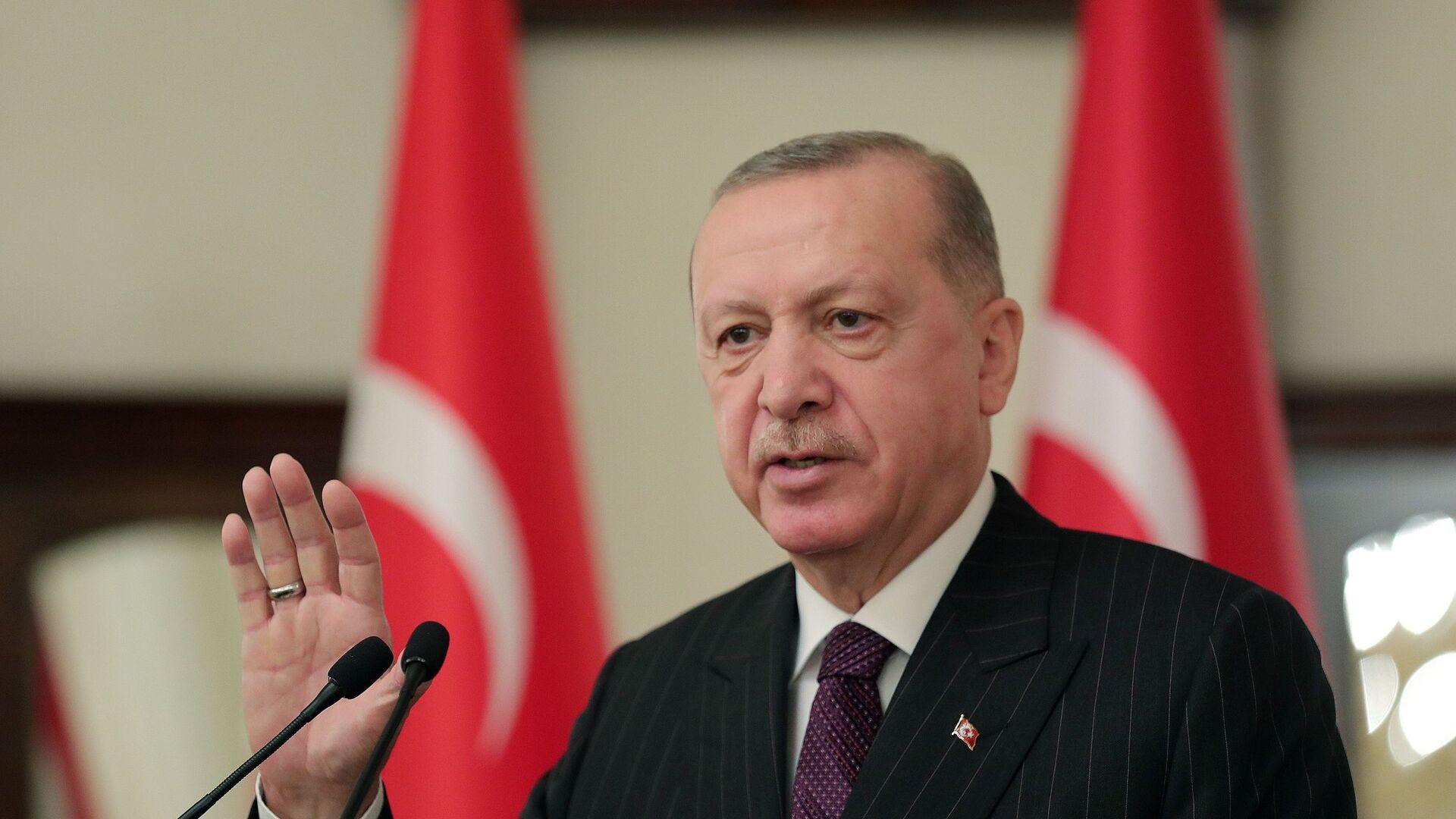 Recep Tayyip Erdogan, presidente de Turquía - Sputnik Mundo, 1920, 19.03.2021