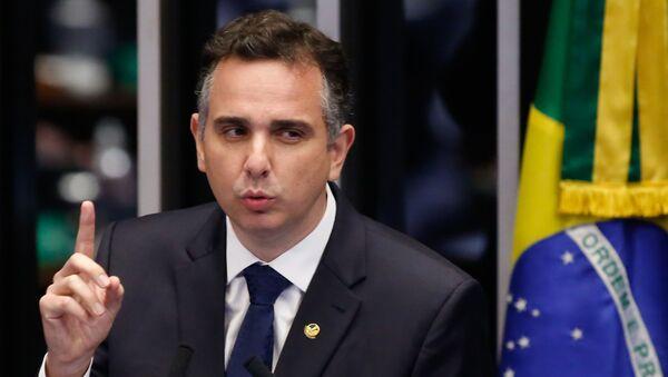 Rodrigo Pacheco, presidente del Senado de Brasil - Sputnik Mundo