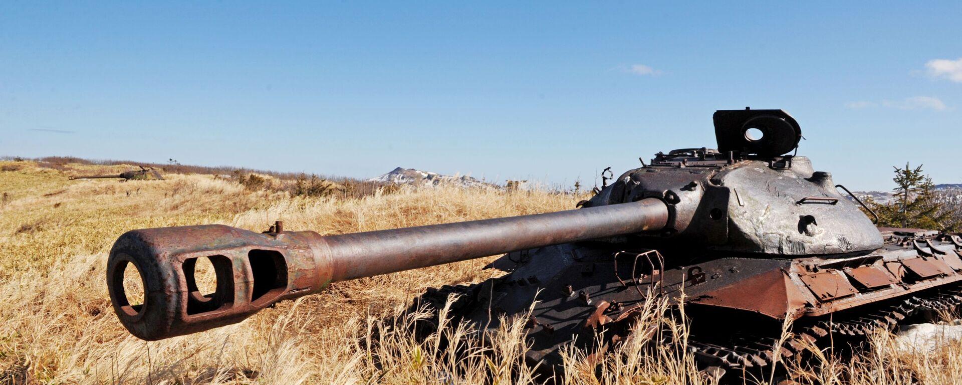 Tanque soviético IS-3 en la isla Shikotán, archipiélago de las Kuriles - Sputnik Mundo, 1920, 02.02.2021