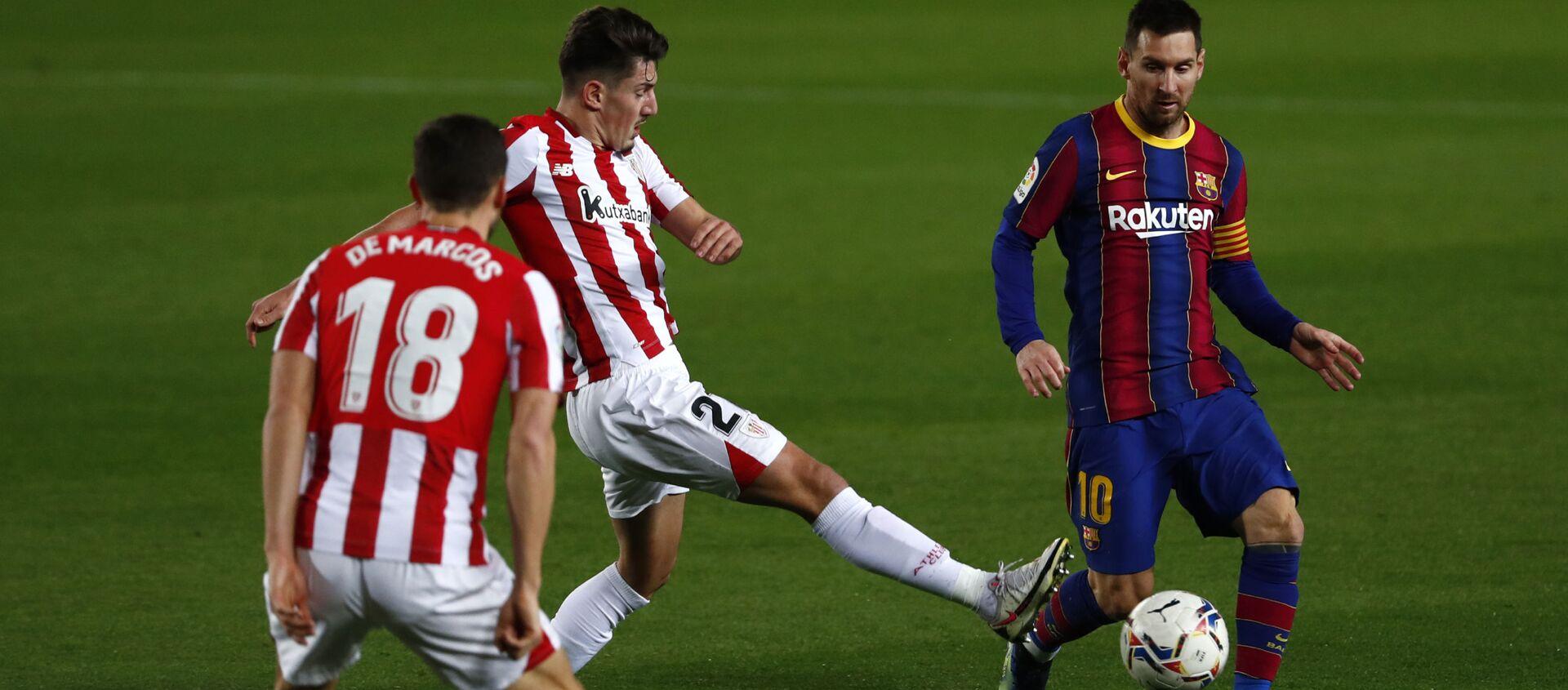El jugador Lionel Messi en un partido contra el Athletic de Bilbao - Sputnik Mundo, 1920, 03.02.2021