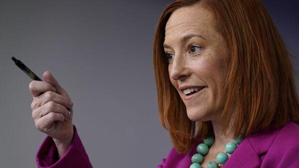 Jen Psaki, secretaria de prensa de la Casa Blanca de EEUU - Sputnik Mundo