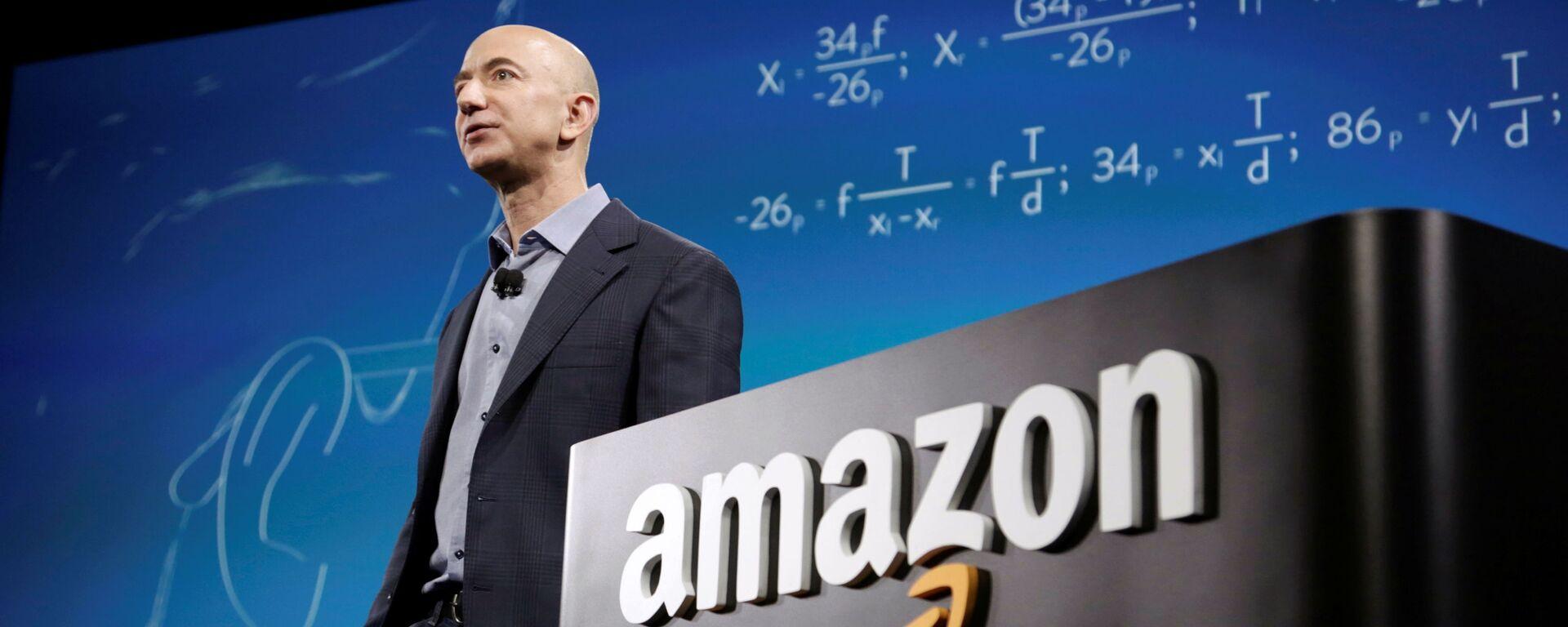 Jeff Bezos, director ejecutivo de Amazon - Sputnik Mundo, 1920, 25.07.2021