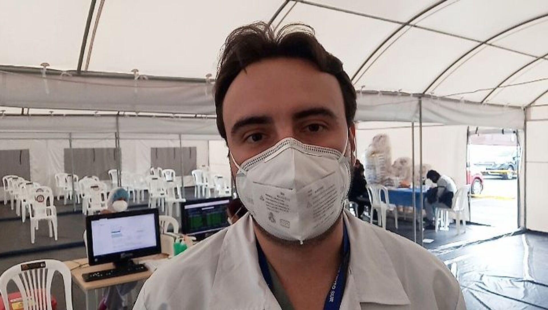 Francisco Mora, médico del hospital del IESS - Sputnik Mundo, 1920, 11.02.2021