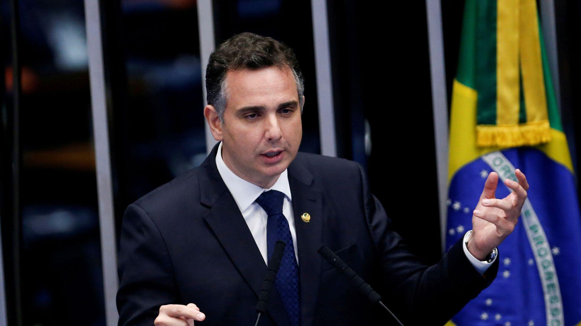 Rodrigo Pacheco, presidente del Senado brasileño - Sputnik Mundo, 1920, 04.02.2021