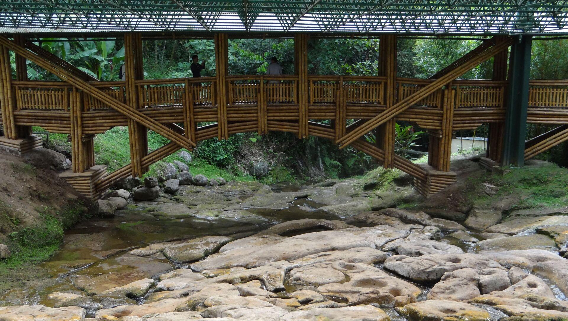 Puente sobre Fuente del Lavapatas, Parque Arqueológico de San Agustín, Colombia - Sputnik Mundo, 1920, 11.02.2021