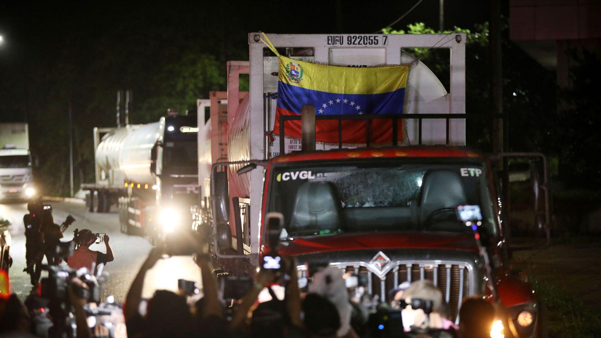 Camiones de oxígeno de Venezuela van a Manaos, Brasil (Archivo) - Sputnik Mundo, 1920, 18.05.2021