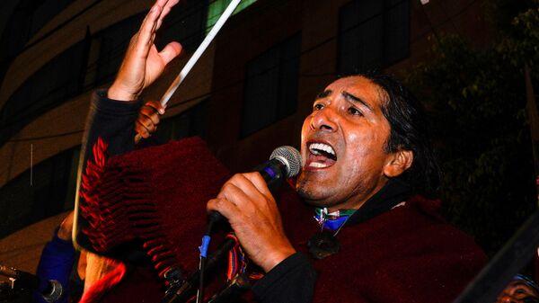 Yaku Pérez, el candidato a la presidencia en Ecuador  - Sputnik Mundo