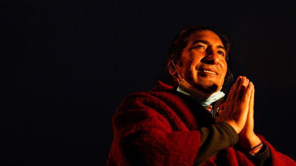 Yaku Pérez, el candidato porel movimiento Pachakutik - Sputnik Mundo