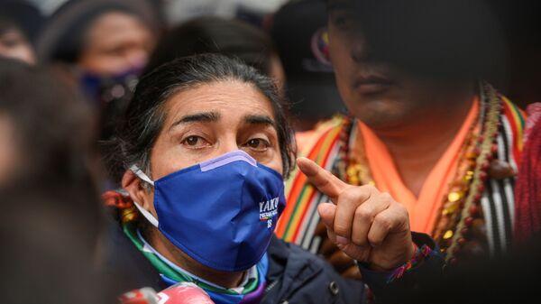 Yaku Pérez, el candidato indígena ecuatoriano - Sputnik Mundo