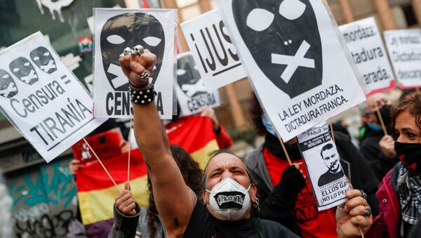 Manifestación de apoyo al rapero Pablo Hasel - Sputnik Mundo